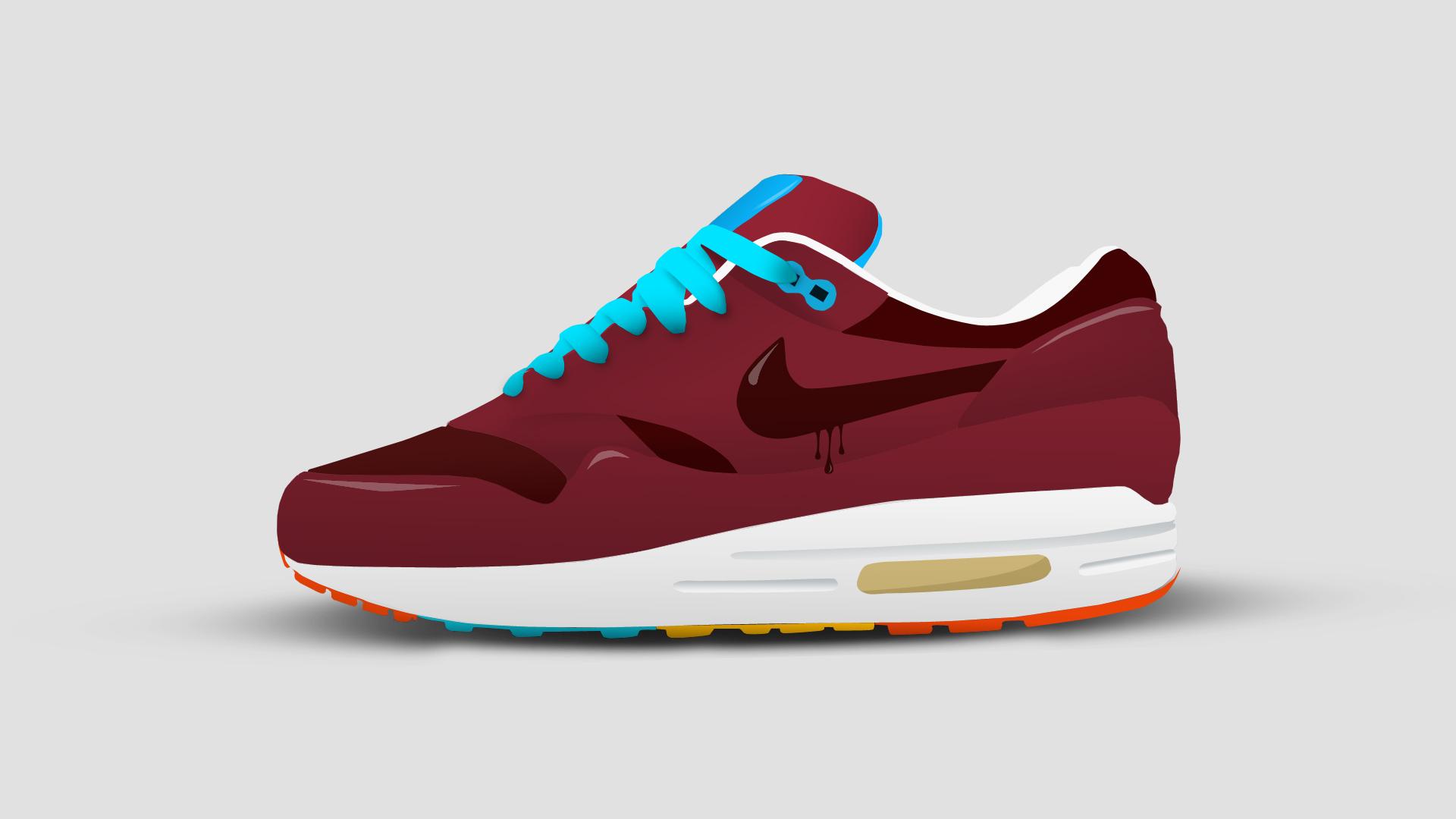 promo code 23975 b4b0f Nike Air Max 1 Cartoon by IModernArts  Vector ...