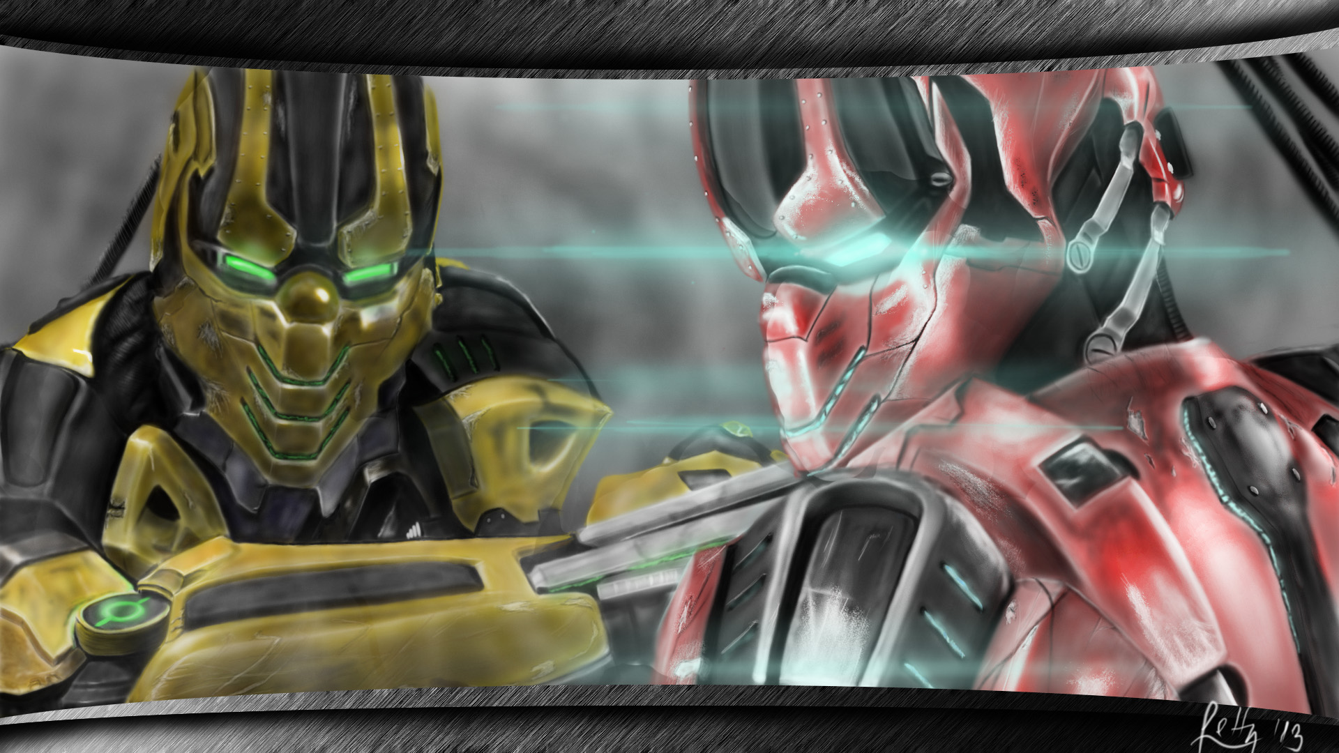 Cyrax and Sektor by Le...