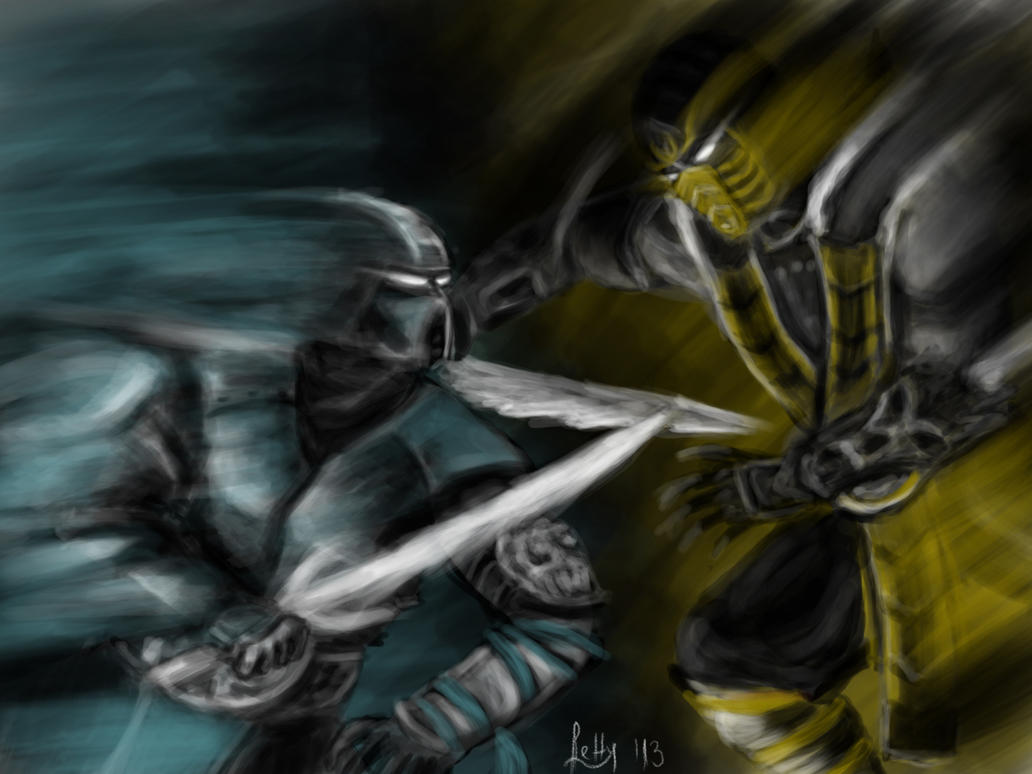 Scorpion vs. Sub-Zero by LetticiaMaer on DeviantArt