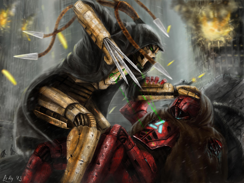 MK/AC Cyrax vs. Sektor by LetticiaMaer