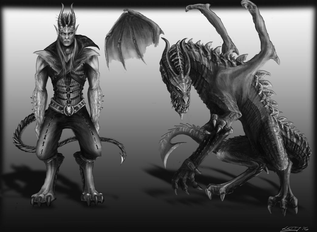Concept Dragonian 2 by LetticiaMaer
