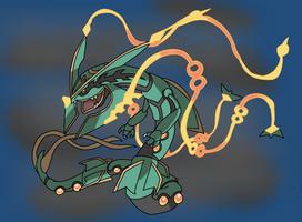 Mega Rayquaza by Jetgoshi