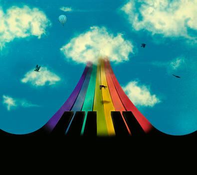 Seven notes, seven colors