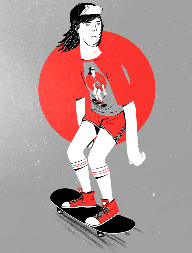 Guy on skate by sebasebi