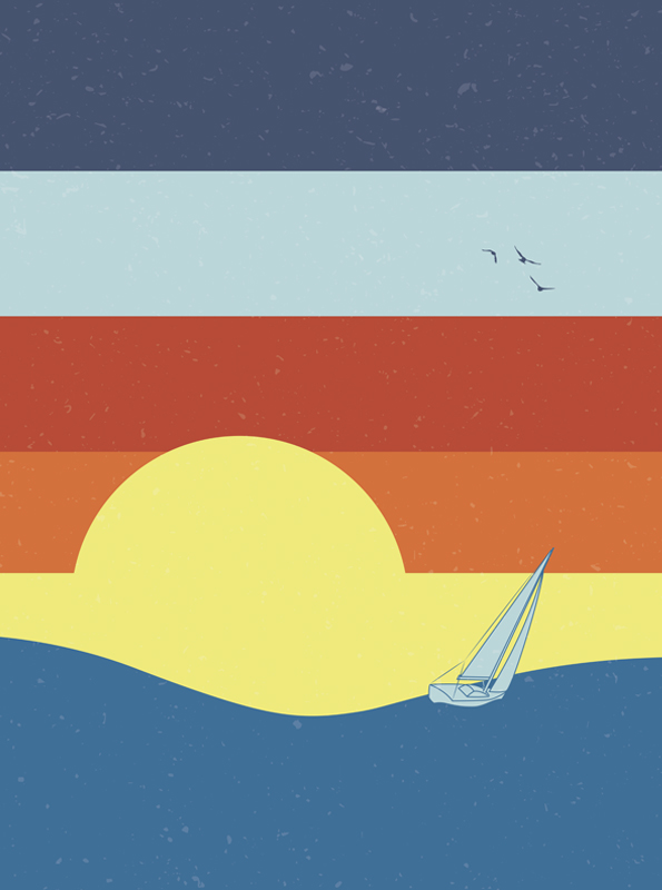 Sailing To The Sunset by sebasebi