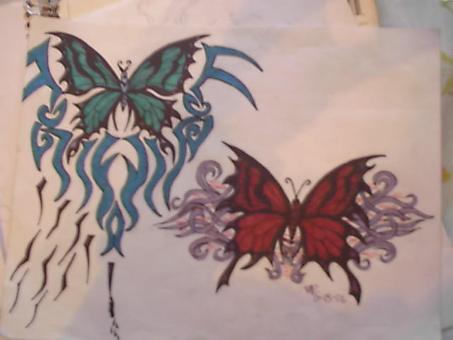butterfly tattoos by ~midnight-shadow666 on deviantART