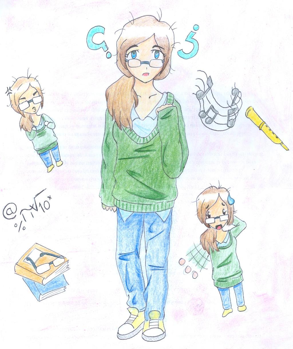 Cute Geek Girl By VMLT