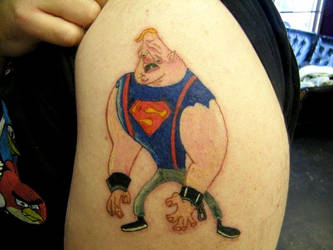 Sloth from Goonies shoulder tattoo by smokedcamel