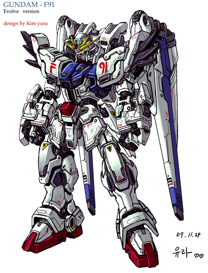 first junk work - F91 gundam by GoddessMechanic