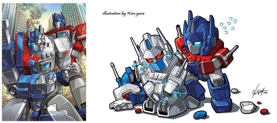 [Pro Art et Fan Art] Artistes à découvrir: Séries Animé Transformers, Films Transformers et non TF - Page 4 Ultra_magnus_and_optimus_prime_by_goddessmechanic-d4bz6v1