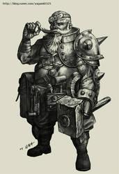 Dwarf Blacksmith by GoddessMechanic