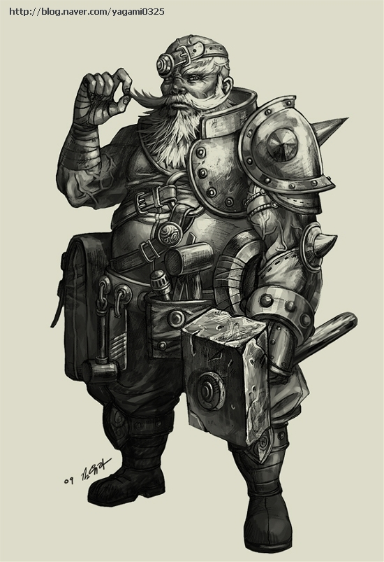 Dwarf Blacksmith by GoddessMechanic