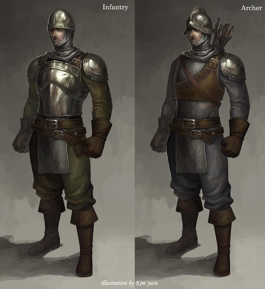 Dieselpunk Soldier The medieval soldiers ...