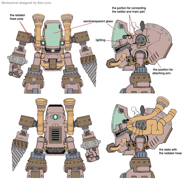 Resource gathering robot by GoddessMechanic