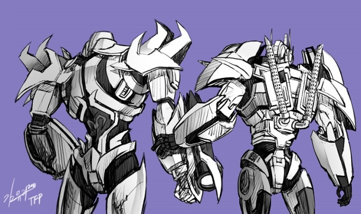TFP Optimus , Megatron -2 by GoddessMechanic