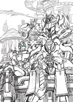 TFP Cybertron golden age sketch
