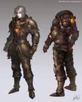 steampunk  fantasy character design -1