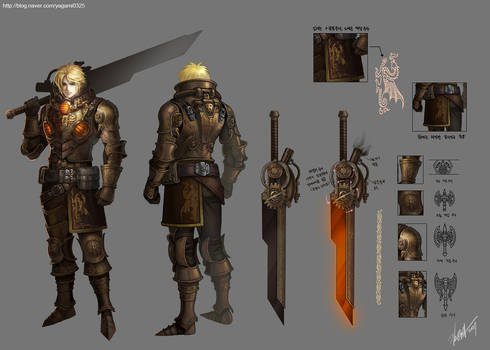 steampunk fantasy character design -2
