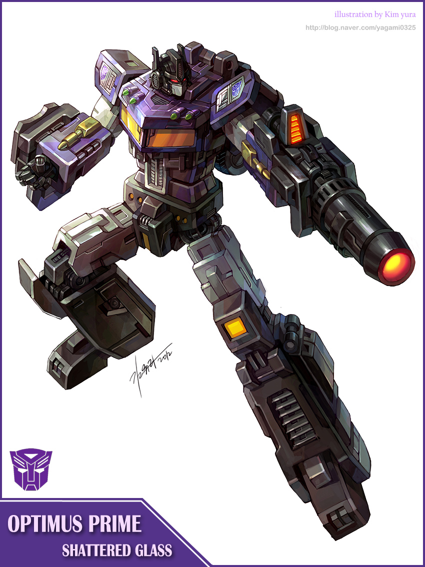 Shattered Glass- Optimus prime by GoddessMechanic