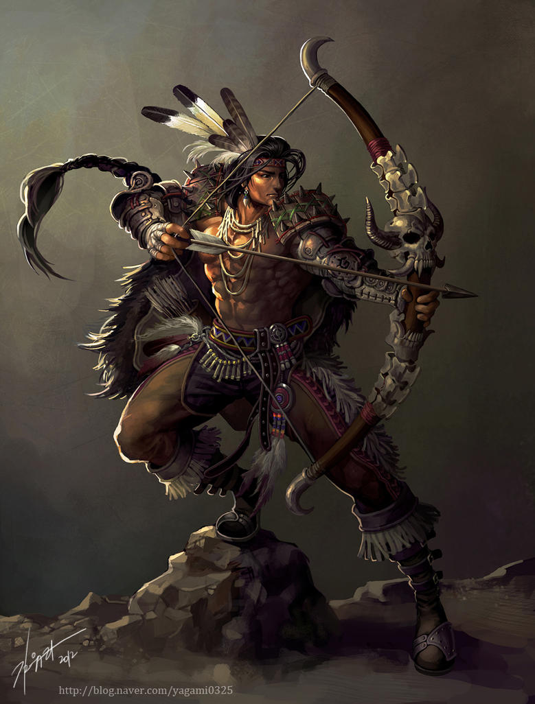 Native American Archer by GoddessMechanic