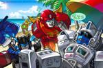 TF fanart - Autobots vacation Ver2