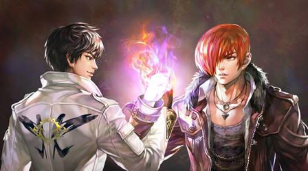Kyo and Iori
