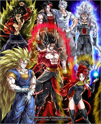 My commissions of DB styles by GoddessMechanic