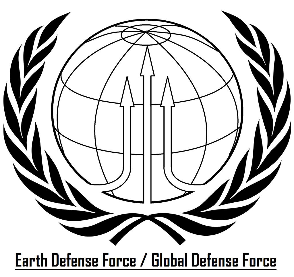earth defense force global defense force logo by