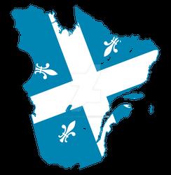 Carte drapeau | Flag map (QC-1930)