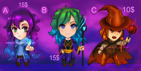 Adoptables Magician Set by danny12346