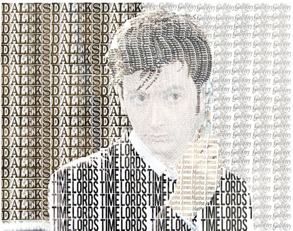 David Tennant as Tenth Doctor Typography