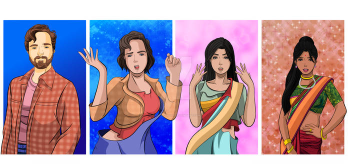 Commission: Comfortable wearing a saree