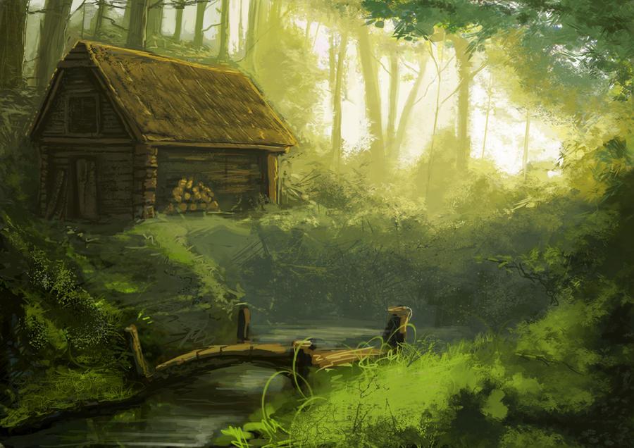 Zdjęcie użytkownika Historyjka w temacie Chata pośrodku lasu.