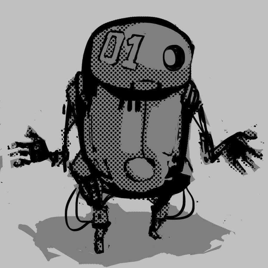 Squarobot 0001 by gregorKari