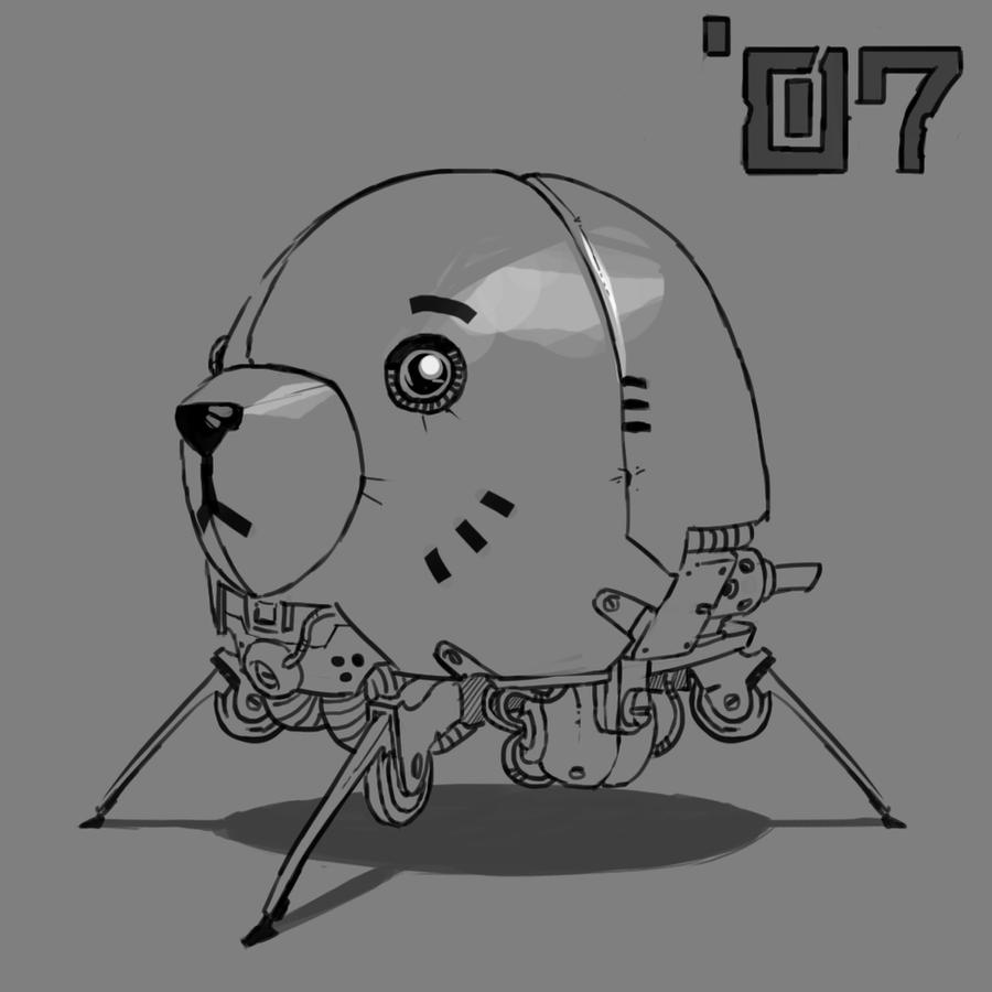 Squarobot 0007 lines by gregorKari