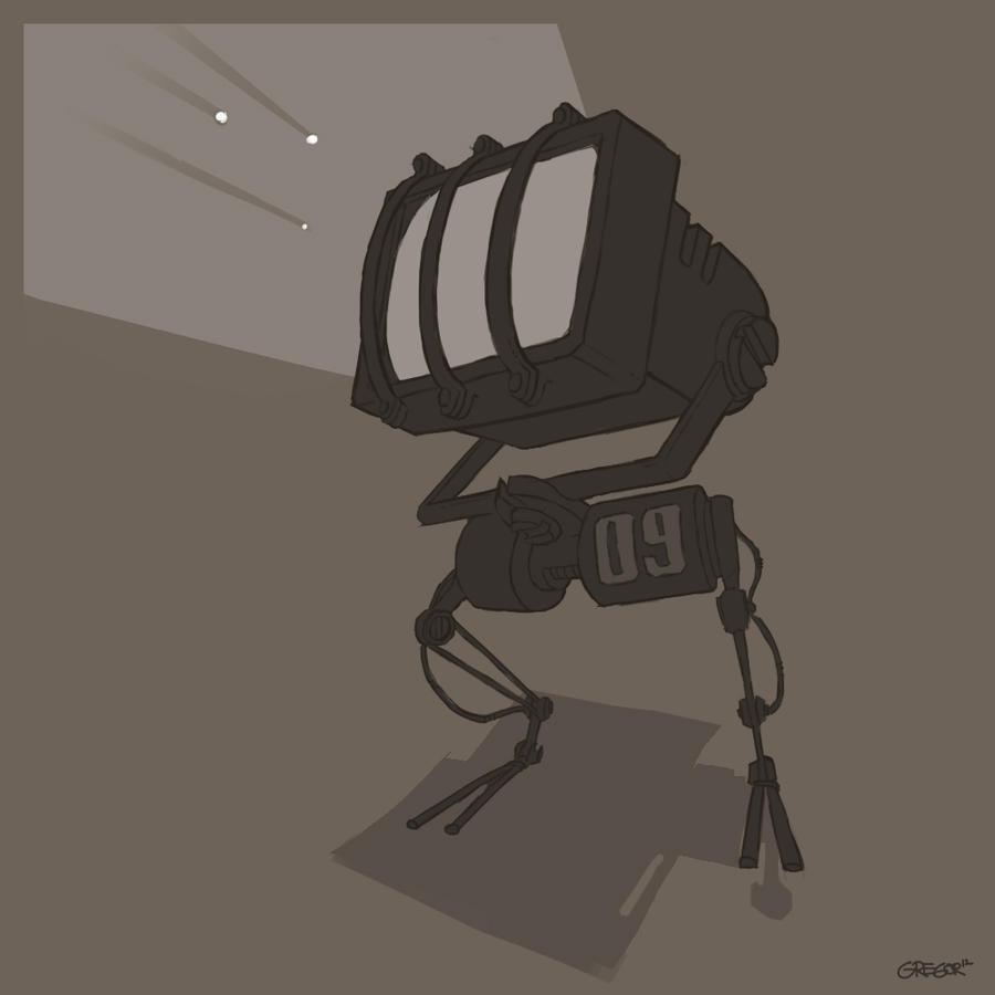 Squarobot 0009 lines by gregorKari