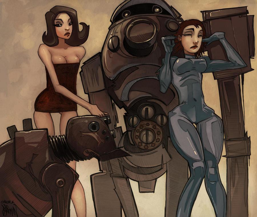 Robots and Dames by gregorKari