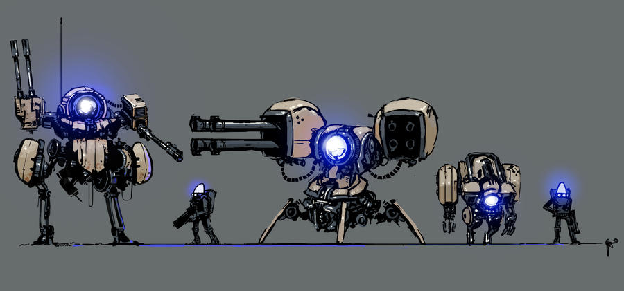 Practicebots 008-010 by gregorKari