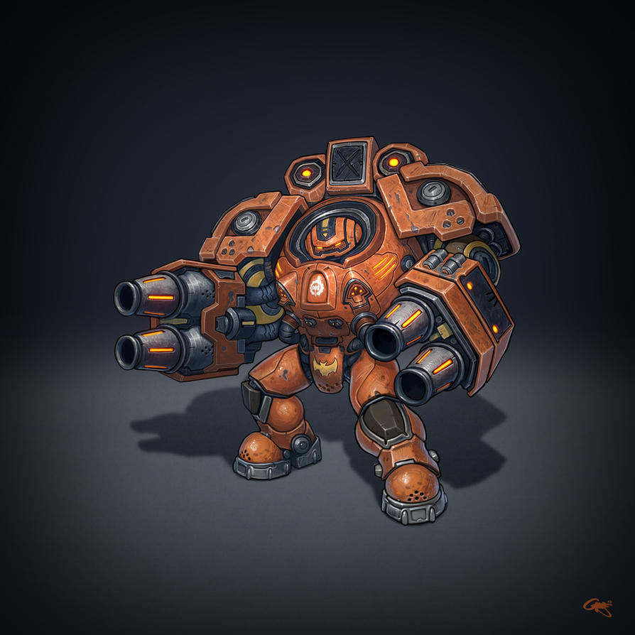 Terran Firebat by gregorKari
