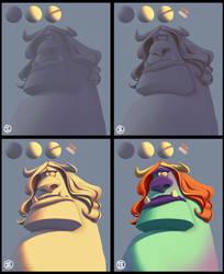Fundamentals of Lighting #5c - Steps by gregor-kari