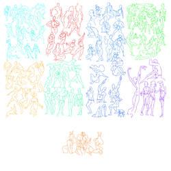 96 Poses in 1 hour by gregor-kari