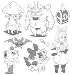 the Truffle Fairy and other Character Designs