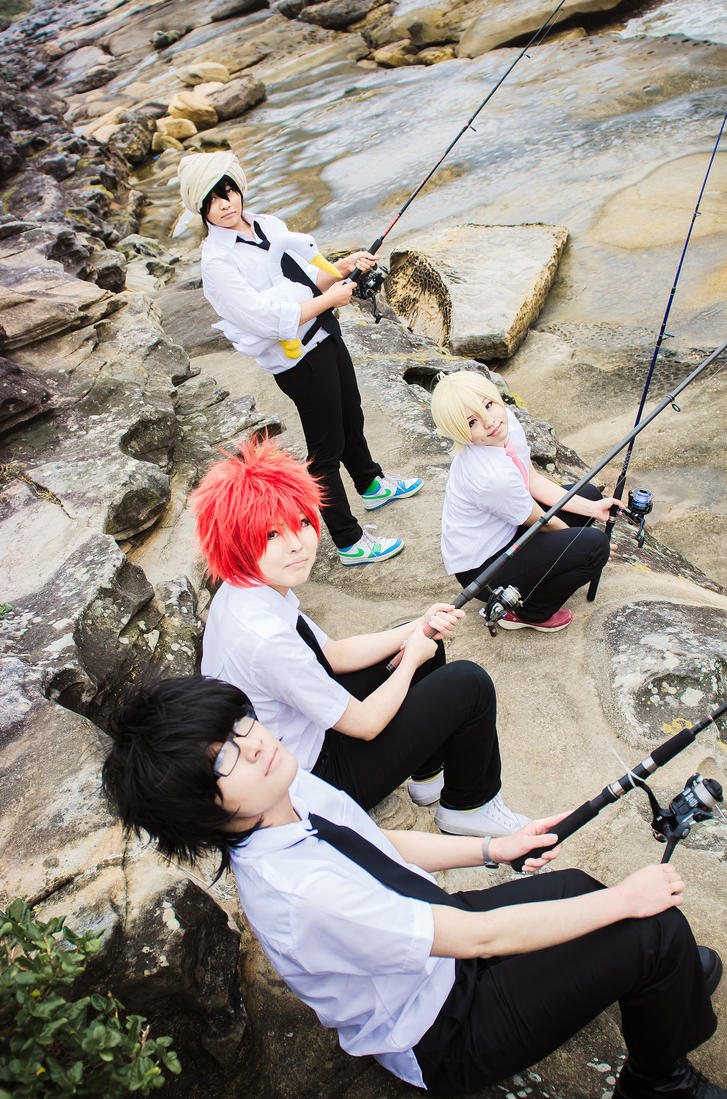 Tsuritama let 39 s go fishing by churian on deviantart for Lets go fishing
