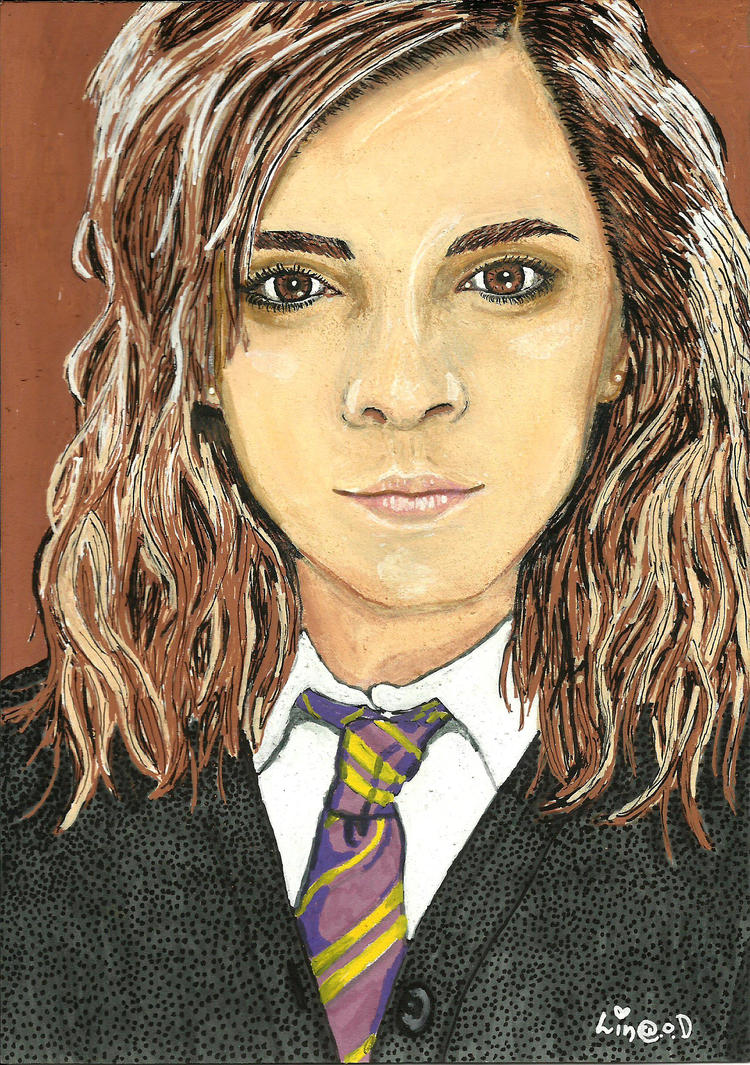 Hermione Fanart 14,5cm x 20,5cm by LinaOD