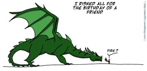 Dragon for birthday by akar091