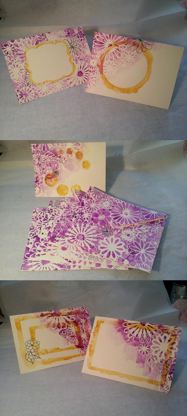 Purple and Ochre Stationary by Pepper-Dragon