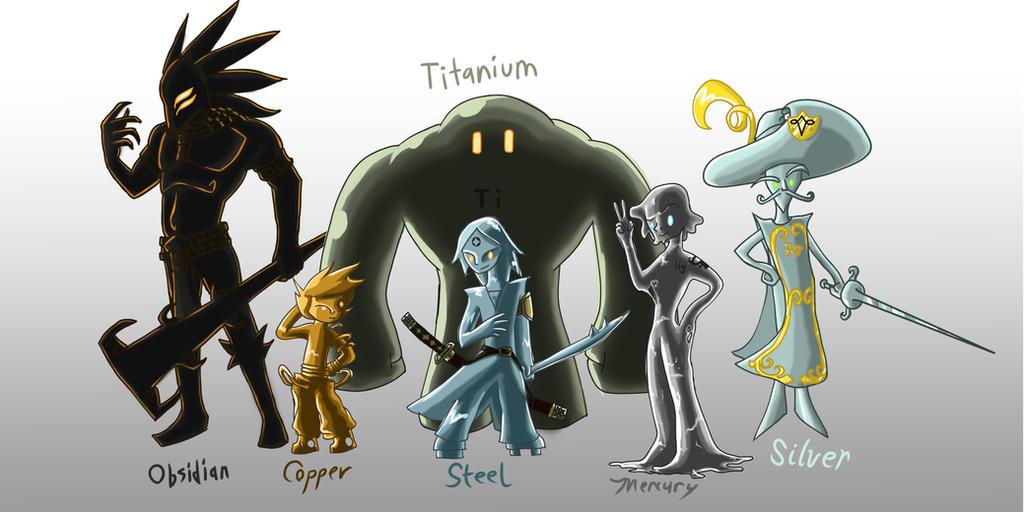 Steven Universe: Fancharacters Metals by m1a1t7t on DeviantArt