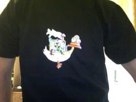 Nuclear Duck T-shirt by skoppio
