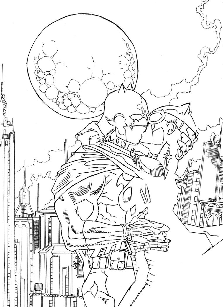 Batman x Catwoman by skoppio