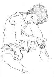 Schiele study sketch